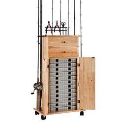 Ordinaire ORGANIZED FISHING Rod Rack Utility Box Cabinet