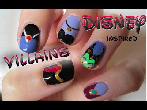 Disney Villain Nails Halloween Nail Art Nails Halloween Nails Disney Nails