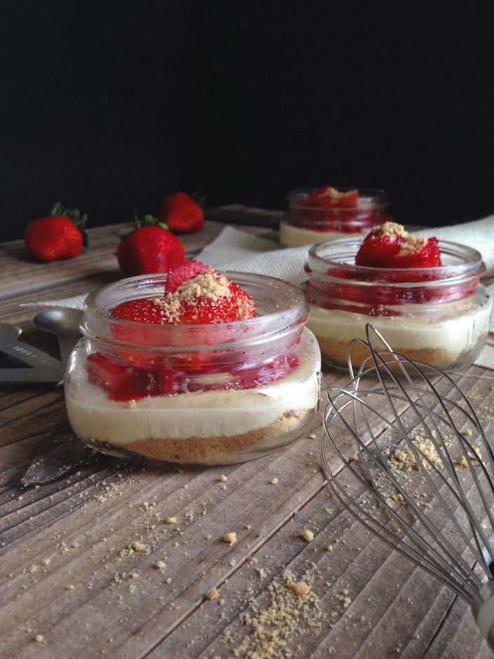 Strawberry Cheesecake Jars 4