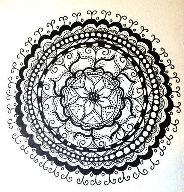 A New Mandala Doodle Zentangle Mandala Coloring Mandala