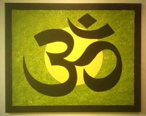 YOGA ZEN Buddhist Chinese Symbol for Meditation OM 16x20 Any Color ...
