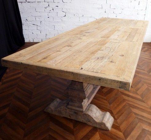 Magnifique Table De Ferme Monastere De Salle A Manger En Bois Brut Veinures Et Noeuds Apparants Table De Ferme Table De Ferme Ronde Table Monastere