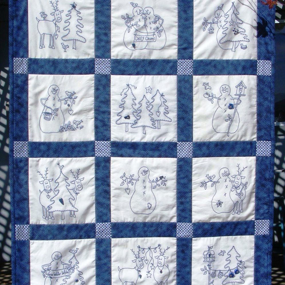 Christmas Hand Embroidery Quilt Patterns Redwork Designs