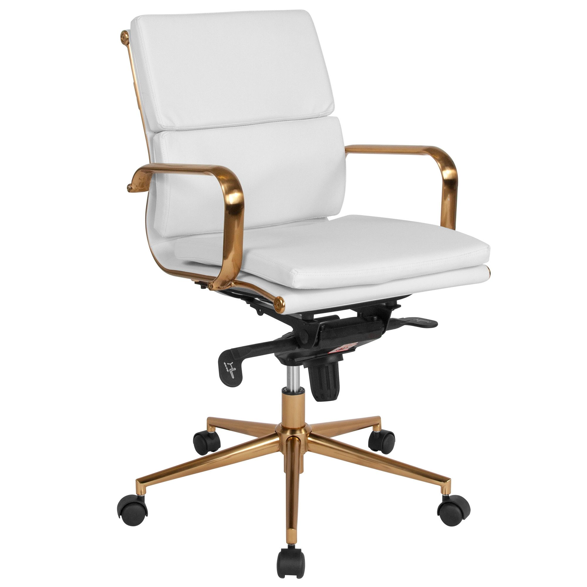 MidBack LeatherSoft Executive Swivel Office Chair with