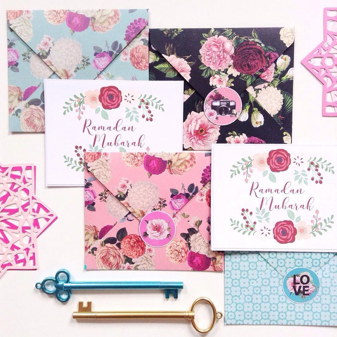 beautiful handmade floral cards and matching envelopes