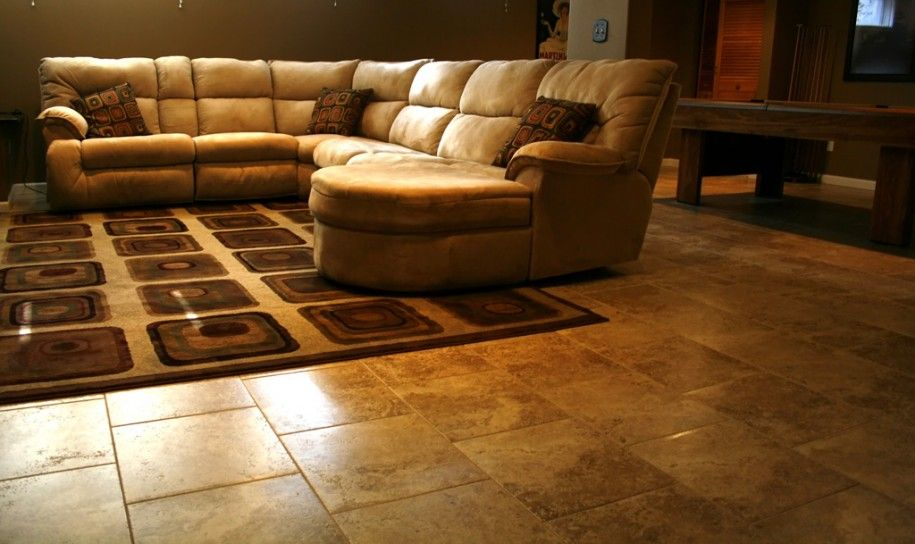 living room tile. rustic living room tile floor photos  for Floor Soft Cream Sofa