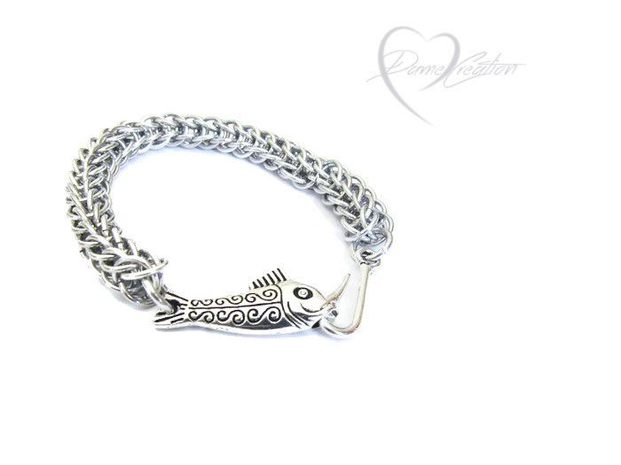 Fish Hook Bracelet Cool Mens Gifts Hook Bracelet Fishing Gifts