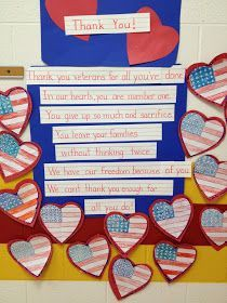 My First Grade Backpack: Thank You to our Veterans! #veteransdaydecorations