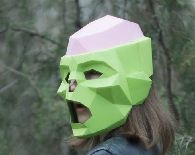 Make Zombie Mask,DIY Head,Instant Pdf Download, Paper Mask,Horror,  Paper Face Mask Template
