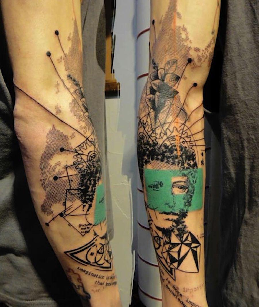 photoshop aus der nadel die tattoos von xoil loic lavenu alias xoil ist tattoo k nstler in. Black Bedroom Furniture Sets. Home Design Ideas