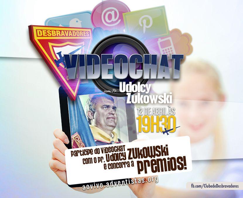 Convide seus amigos para participarem com você do Videochat dos Desbravadores: dia 12 de abril às 19h30 no site: aovivo.adventistas.org