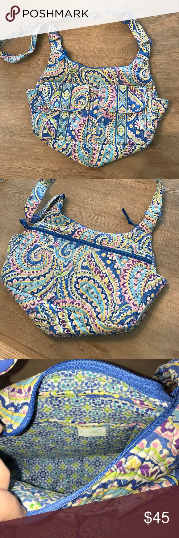 Vera Bradley diaper bag Adorable Vera Bradley diaper bag for sale. Brand new condition. Very cute and practical. Long adjustable strap. Lots of pockets and storage on inside and out. Vera Bradley Bags Baby Bags
