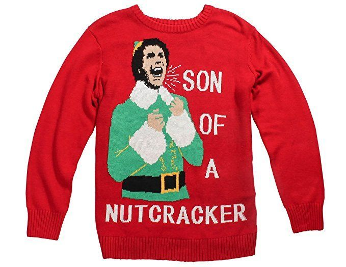 Buddy The Elf Son Of A Nutcracker Ugly Christmas Sweater Christmas