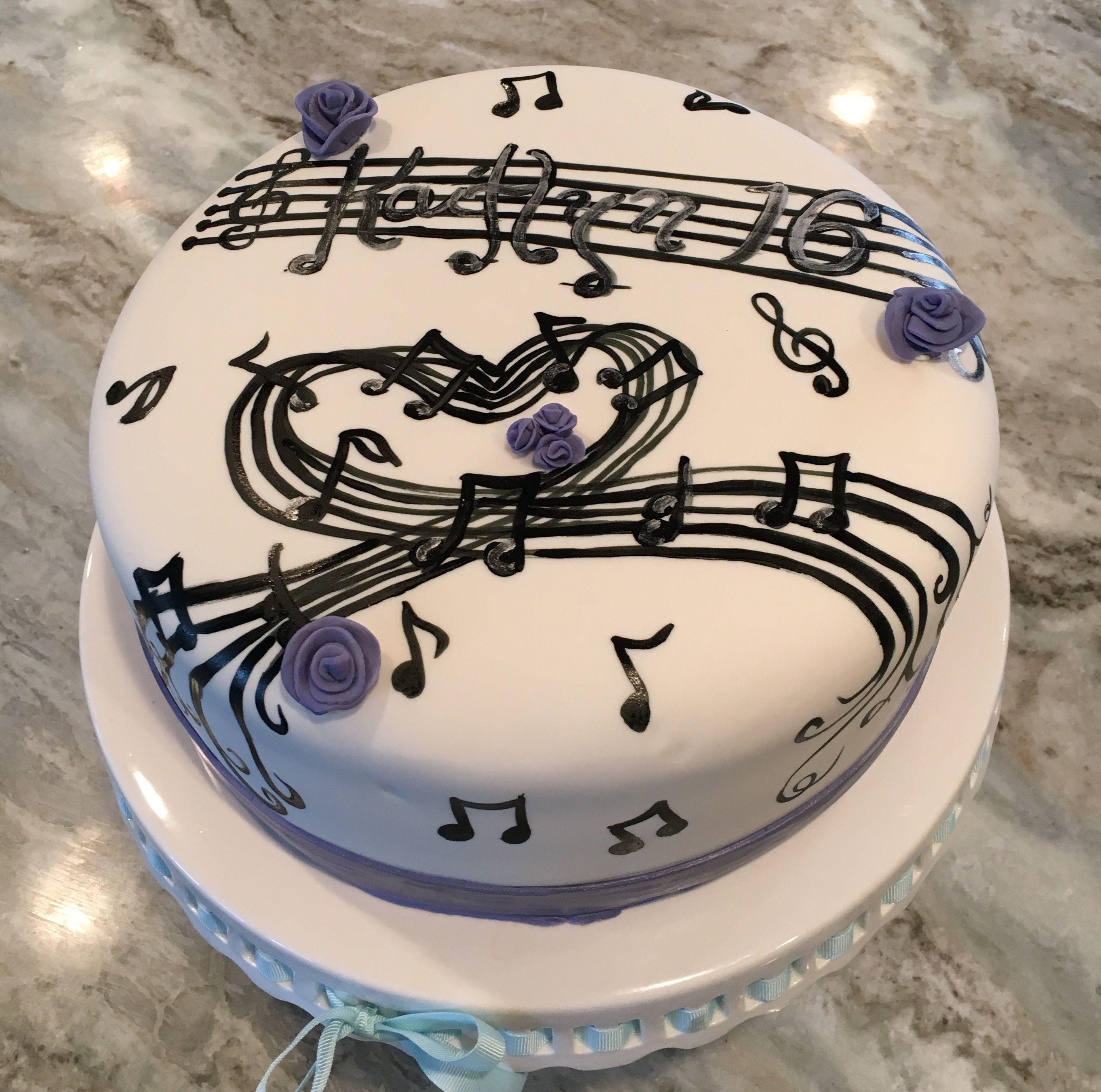 Musical Sweet 16 Cake Custom Cakes By Kims Custom Cake House