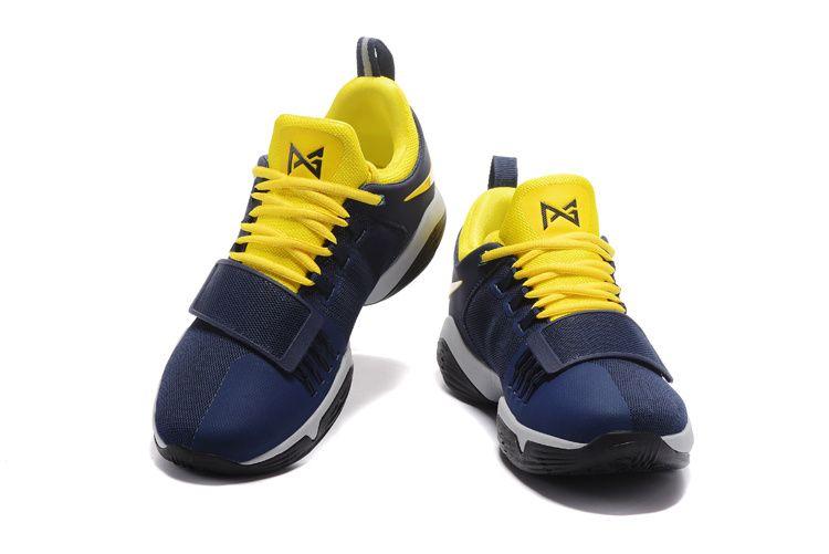 Buy 2018 Nike PG Paul George 1 Midnight Navy Bright Maize Volt ... bf83ba35343f