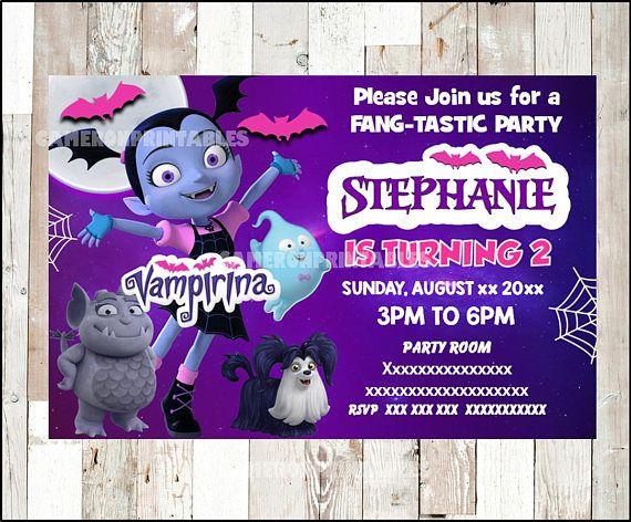Vampirina Invitation Printable Party
