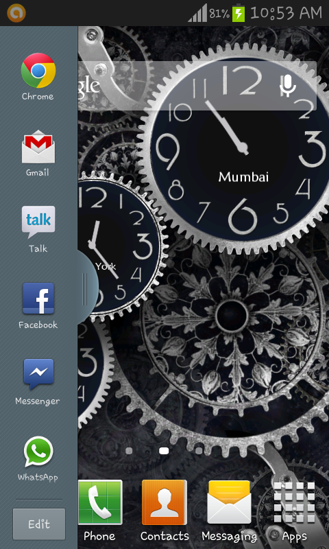 Multi Window And Ripple Lock Screen For Samsung Galaxy S2 GT I9100