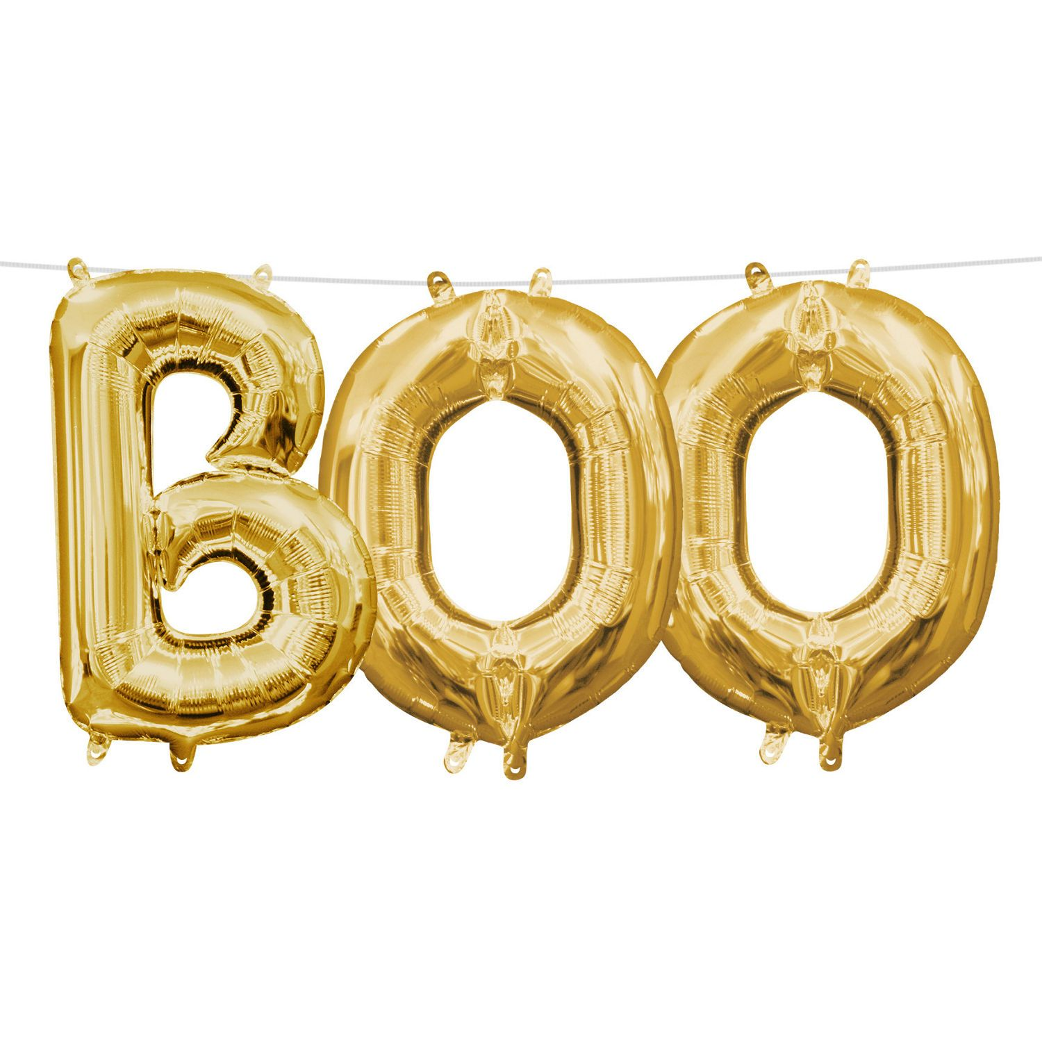 13in AirFilled Gold Boo Letter Balloon Kit Letter