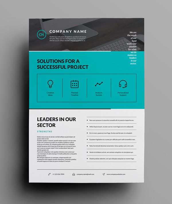 Corporate Flyer One Pager Design Corporate Flyer Case Study Design