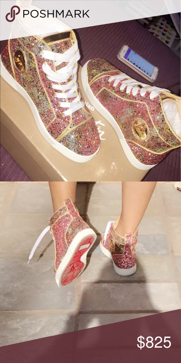 ea19a5a736d Christian Louboutin sneakers Gently used , worn 3 times , sparkly ...