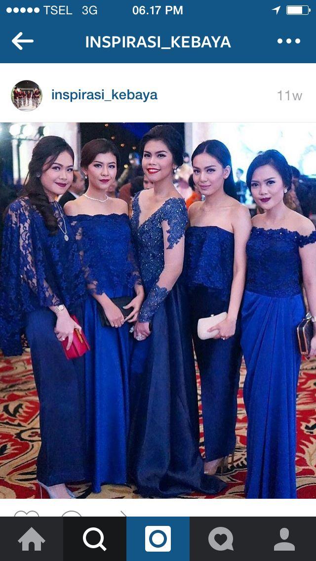 Kebaya Biru Kebaya Indonesia Gaun Gaun Pesta Dan Ide Perkawinan