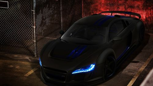 Audi R8 matte black on hd free wallpapers backgrounds
