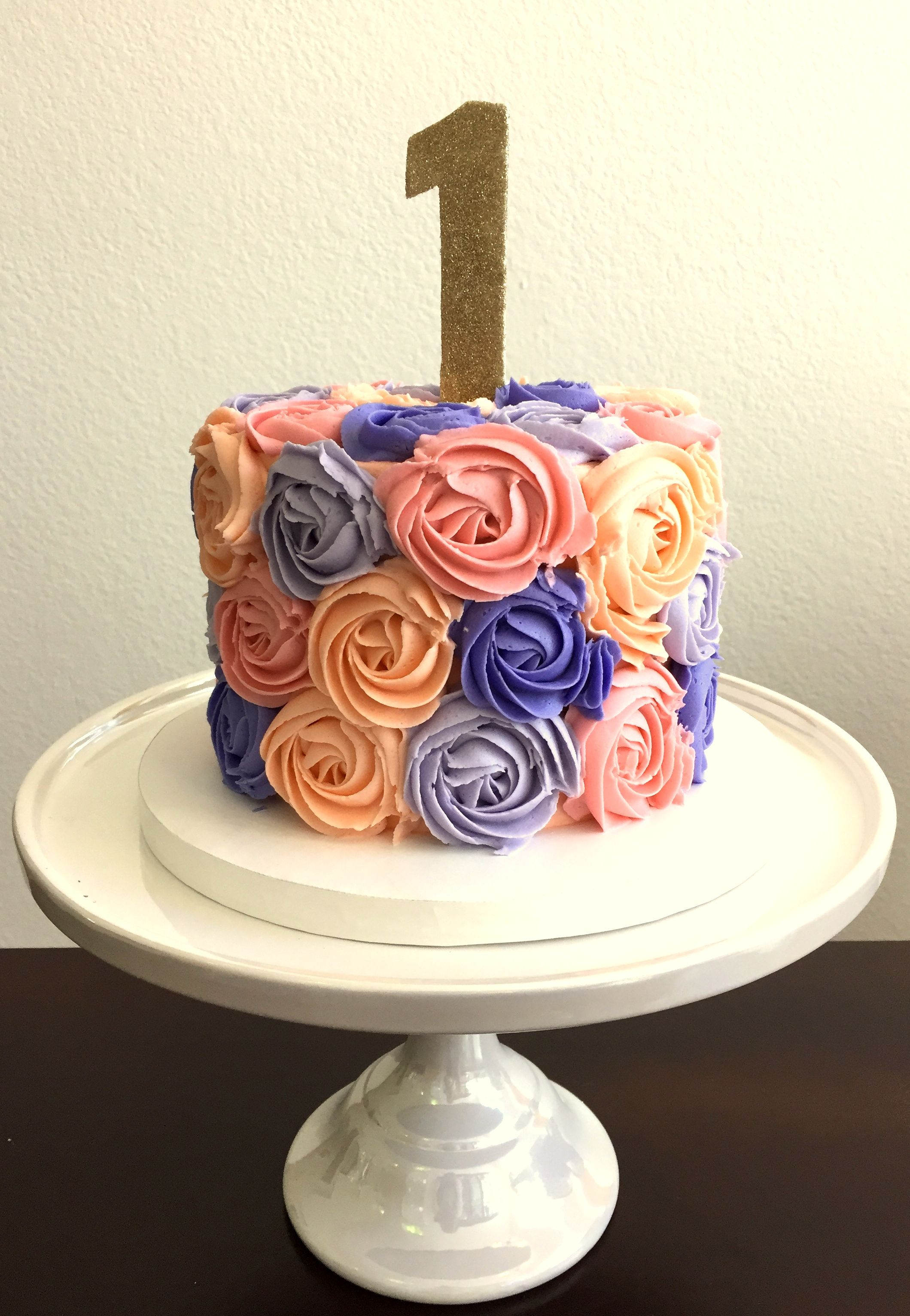 Multi Colored Rosette Cake Cakes Pinterest Rosette