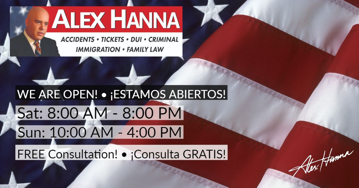 Need An Attorney Call Me Now For A Free Consultation 305 883 7272 We Are Open Until 8 Pm Necesita Un Abogado Llamame A Alex Hanna News Hour Free