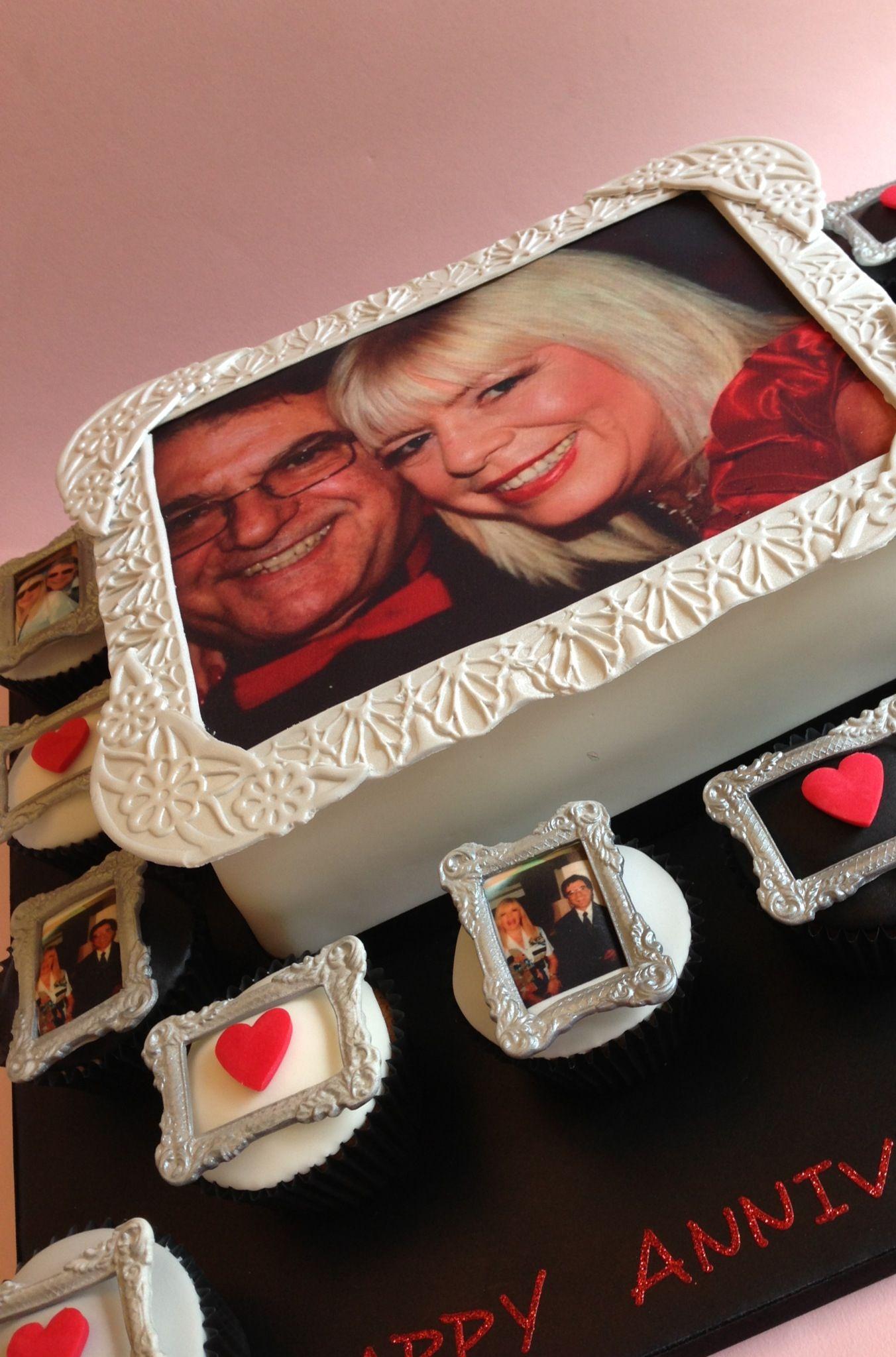 A Photo Frame Style Anniversary Cake! Www.vintagehousebakery.co.uk