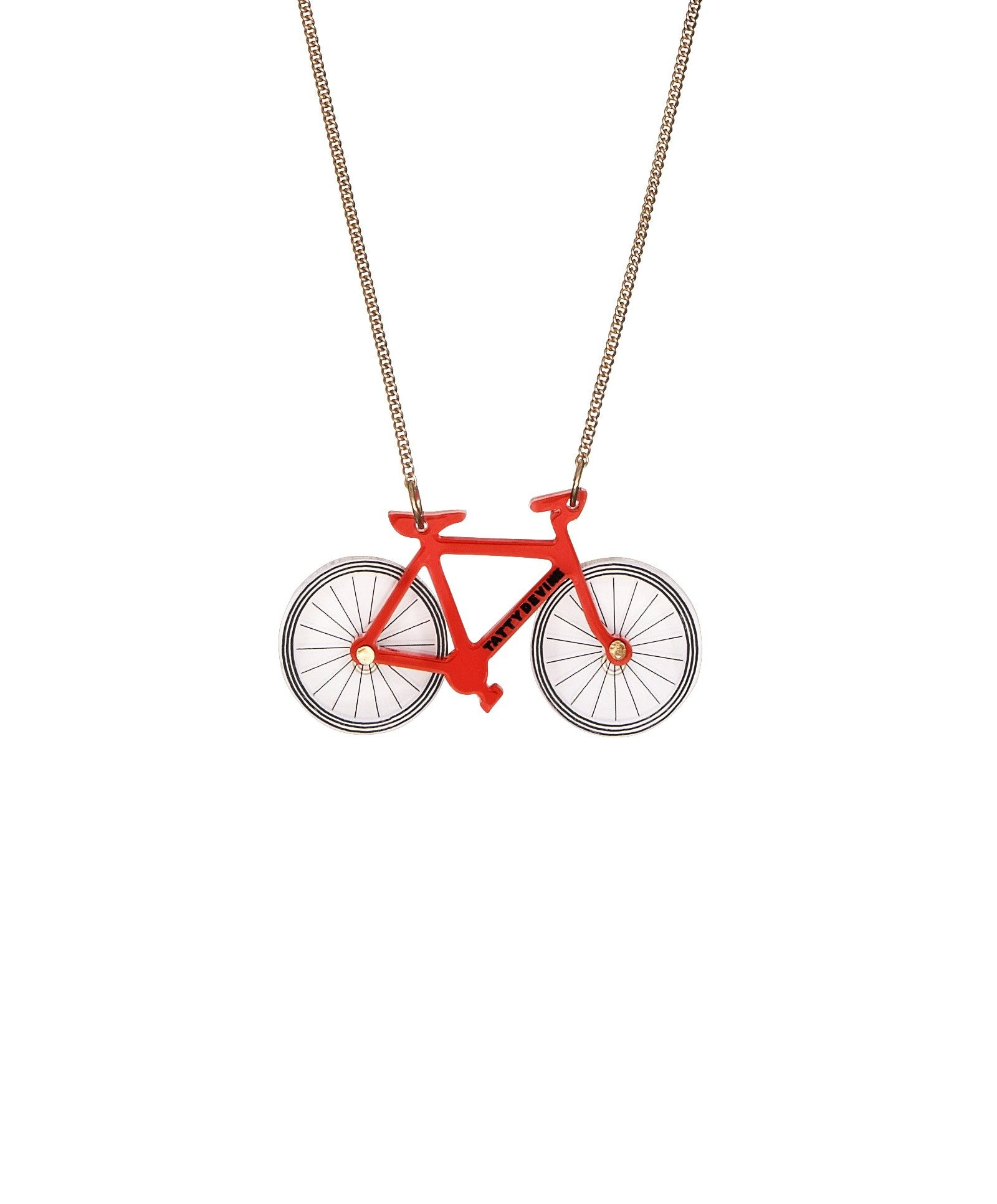 Bicycle Necklace, Red > Take a ride with the Bicycle Necklace. Designed to  celebrate the Design Museum's Cycle Revolution exhibition, a classic bike  is ...