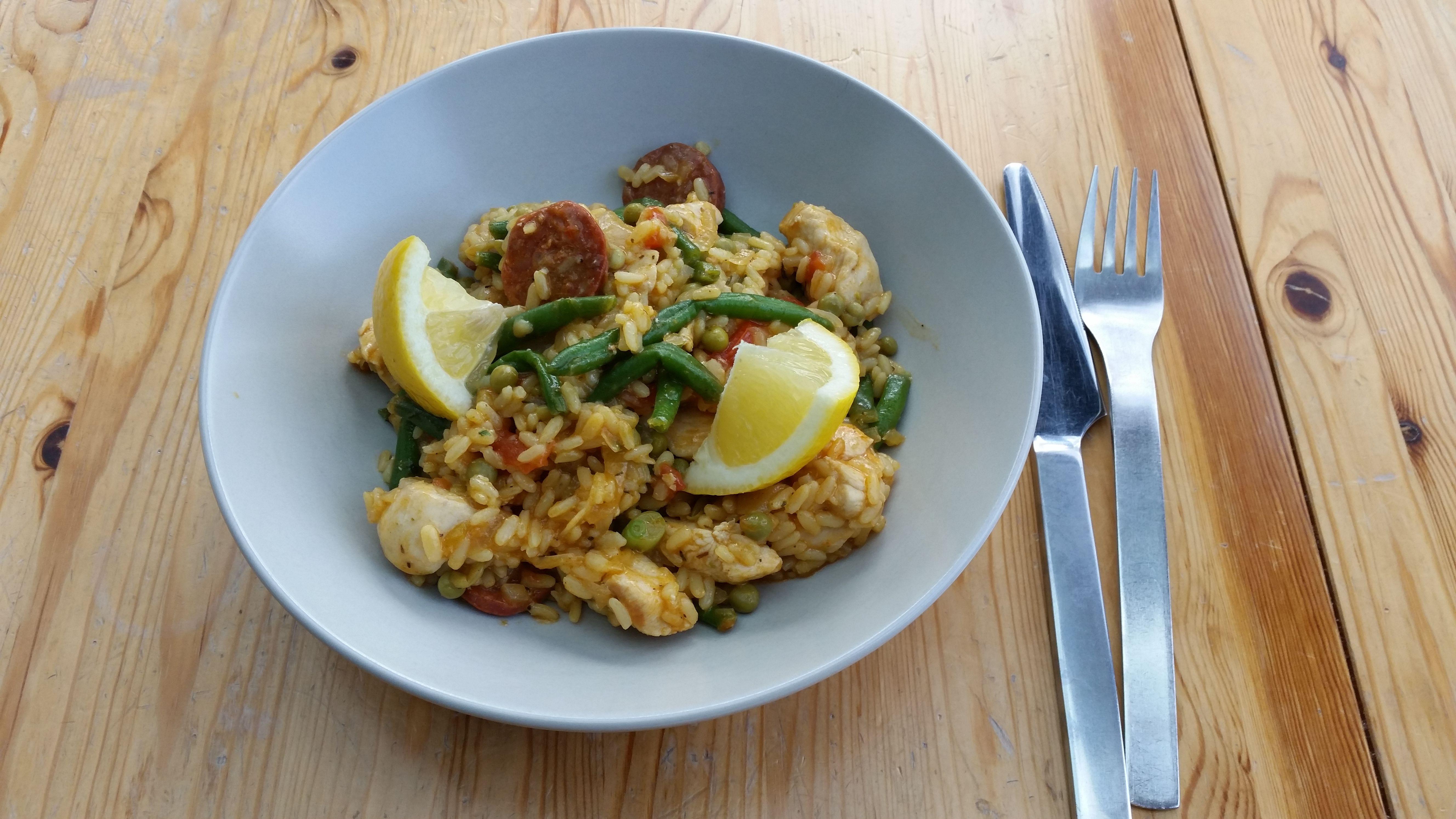 Paella met kip en chorizo – Onze Keuken