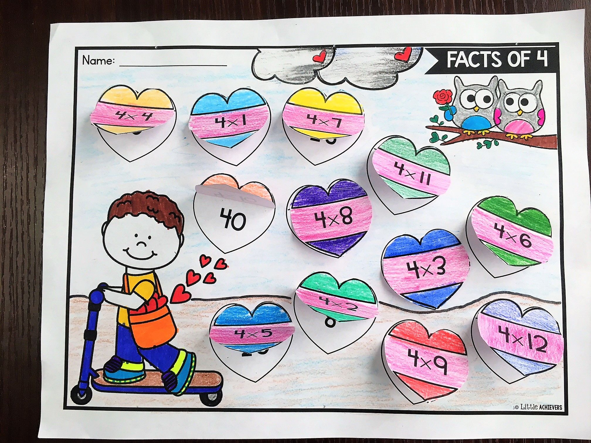 Valentine S Day Multiplication Worksheets For 3rd Grade