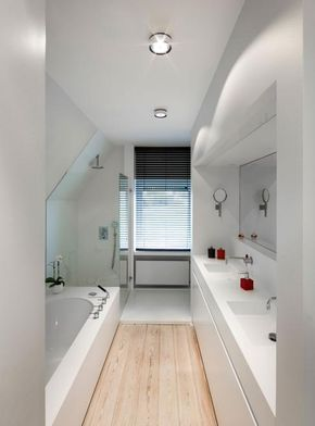 Onwijs Mooie oplossing voor lange smalle badkamer #RTLwoonmagazine (avec RC-86