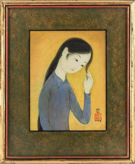 """Jeune fille se coiffant"" by Mai Trung Thu (1966)"