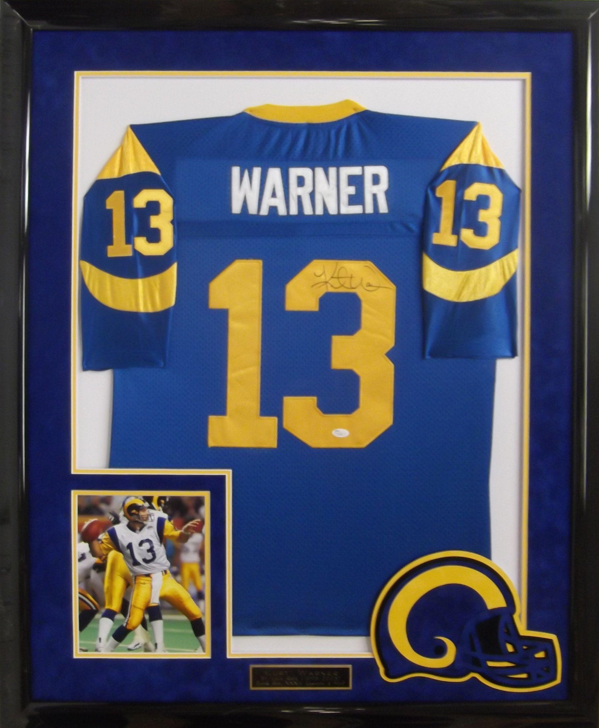 Kurt Warner autographed jersey framed & matted #SaintLouisRams #KurtWarner #sportsmemorabilia #customframing