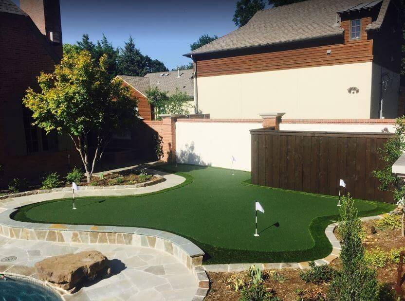 Backyard Putting Greens What To Expect During Artificial Turf Installation Near Me Best Artificial Grass Installing Artificial Turf Backyard Putting Green