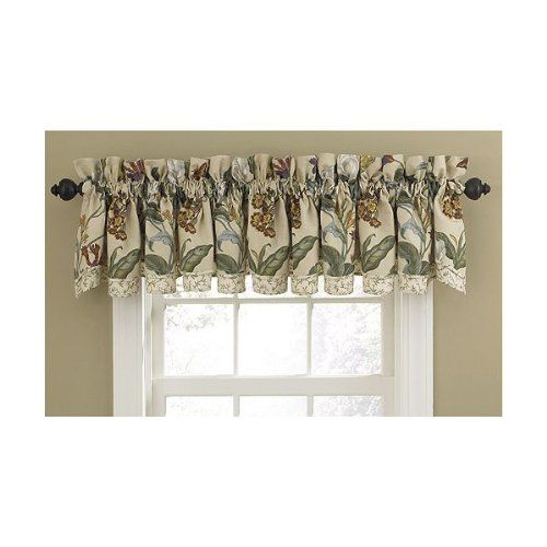 24 99 Baby Waverly Garden Images Parchment Fairfield Valance Elegant Style With Modern Accents This Classic 78 W X 14 L Home Decor Curtains Curtain Designs