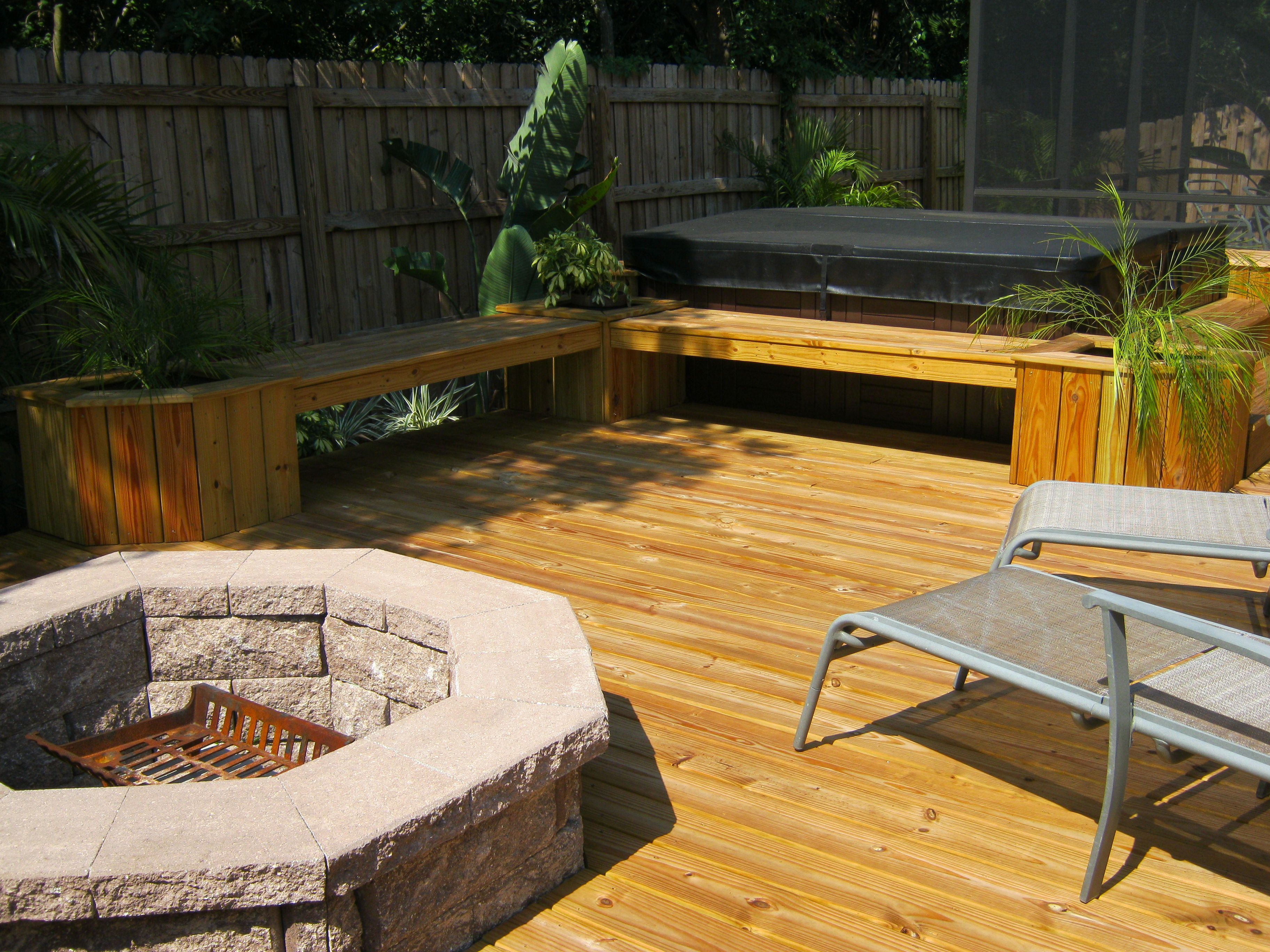 Deck With Fire Pit Fire Pits Exterior Concepts Blog