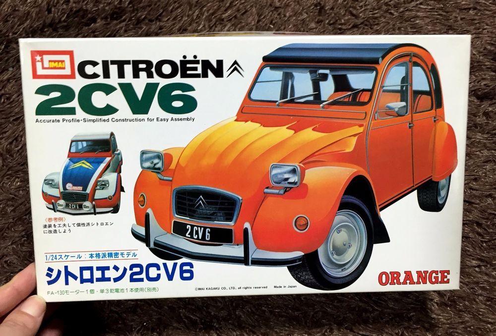 Citroen 2cv6 1 24 Model Kit Imai Japan Citroen Model Kit Plastic Model Kits