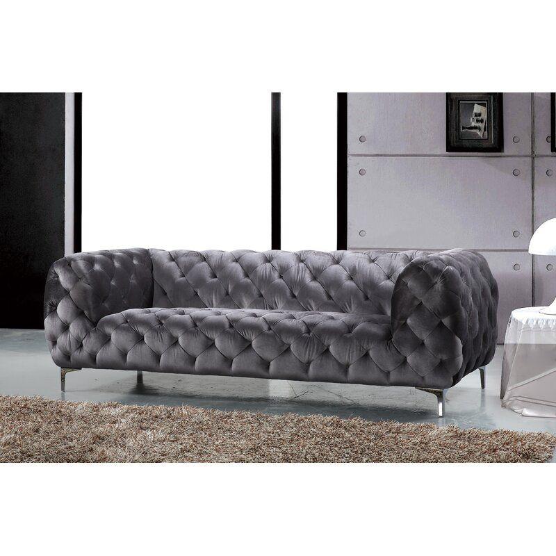 Kamden 91 Velvet Chesterfield Sofa In 2021 Furniture Chesterfield Sofa Sofa