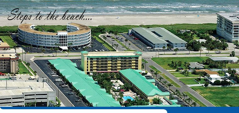 Aerial Photo Showing How Close The Comfort Inn Cocoa Beach