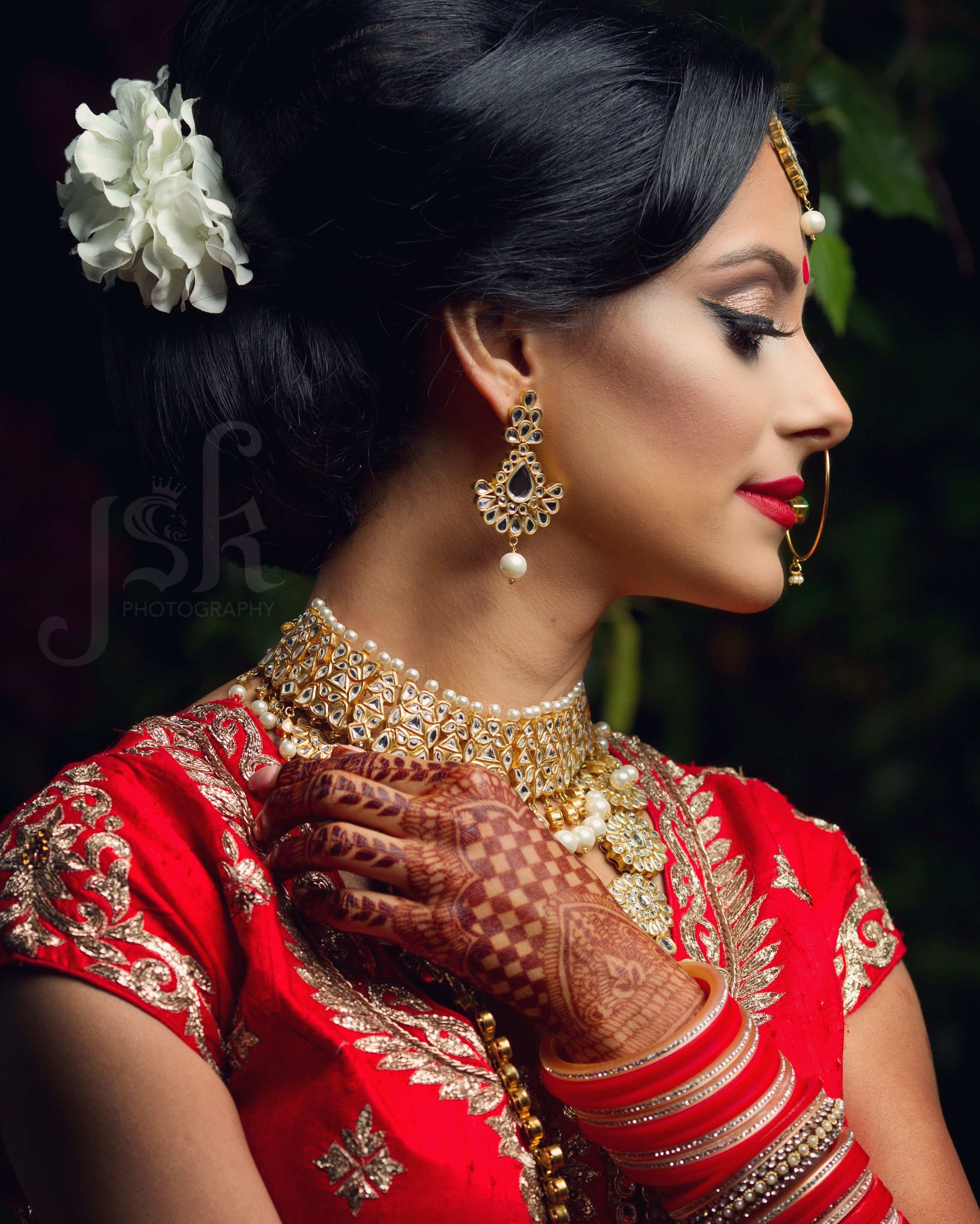 Editorial photo shoot by jsk photography traditional red