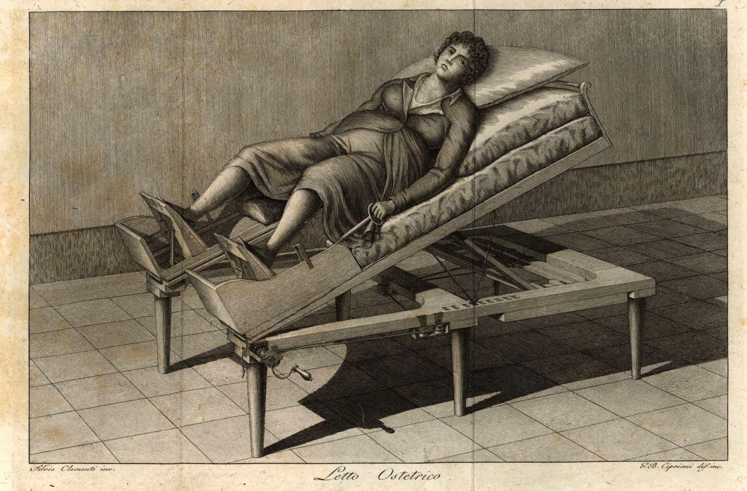 Letto ostetrico macchina ospedale invenzione
