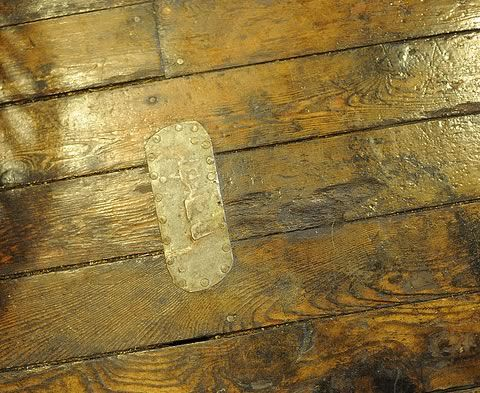 great patch idea for our newly discovered old hardwood floors