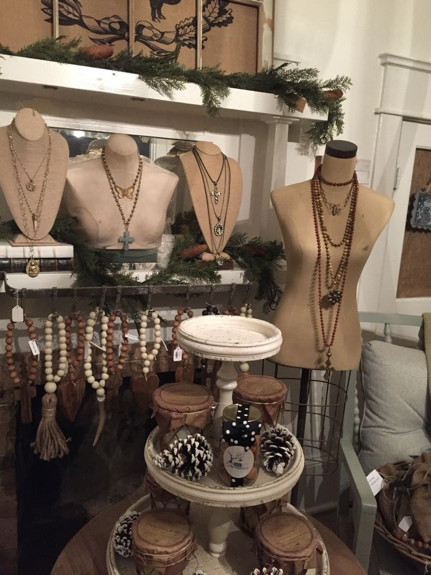 Store Display At Urban Farmhouse In Milton Georgia Jewelry