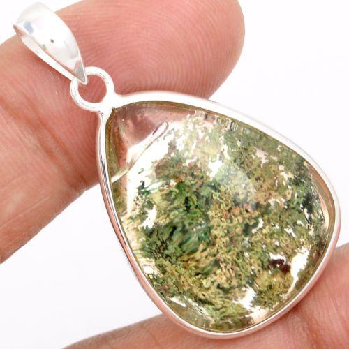 Lodolite-Scenic-Quartz-925-Sterling-Silver-Pendant-Jewelry-SP156081