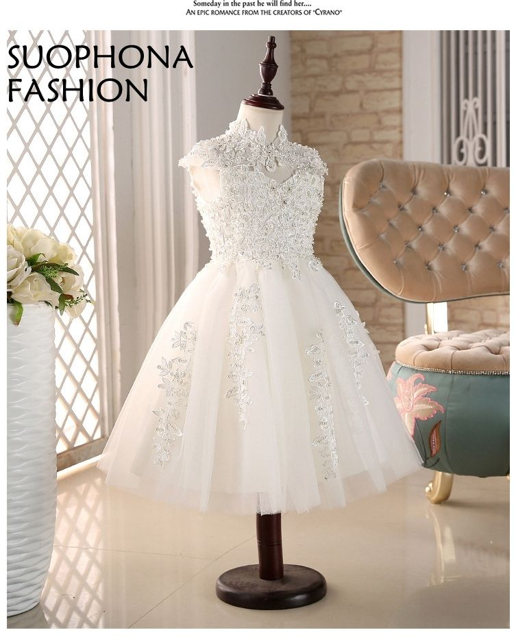 66682f95de Cloud little flower girls dresses for weddings Baby Party frocks sexy  children images Dress kids prom