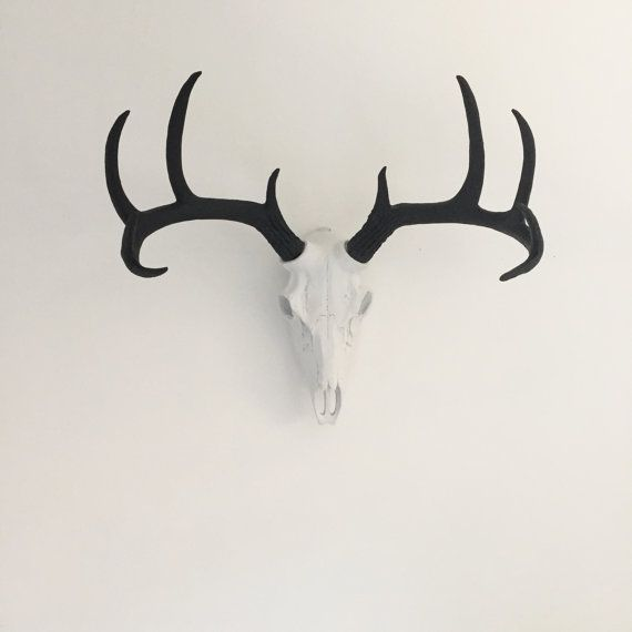 Any Color Faux Deer Skull Wall Mount Faux Taxidermy