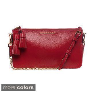 fa28823d92cc Burberry London Patent Leather Tassel Convertible Shoulder Bag Review