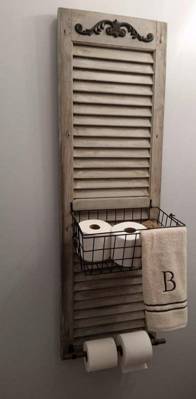 Window Shutter Toilet Paper Holder 34 Ways